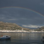 Rainbow over Samos bay