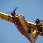 Waterbomber close fly-by
